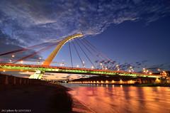 () (szintzhen) Tags: bridge light sky cloud reflection water night taiwan     taipeicity
