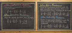 5th Grade: Math; Fractions Review (ArneKaiser) Tags: 5thgrade autoimport boarddrawings edited mrkaisersclass pineforestschool waldorf chalk chalkboard chalkdrawings math flagstaff arizona unitedstates flickr
