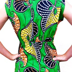 Vestido muy verde (fulanidetal) Tags: kitenge fulanidetal
