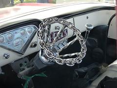 chevrolet (bballchico) Tags: chevrolet truck pickup chainlink chrome santamaria custom steeringwheel