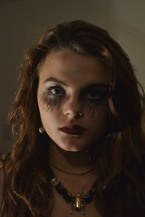 Halloween (neilalexanderchapman) Tags: portrait halloween necklace scary nikon beetle makeup dslr d3100