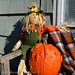 Cute Scarecrow With A Pumpkin