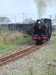 Hurricane at Dungeness (Ron's travel site) Tags: uk england train kent hurricane loco steam gb dungeness locomotive steamengine lightrailway 2014 rhdr romneyhythedymchurchrailway 15gauge 13rdscale thirdscale flickrandroidapp:filter=none september2014