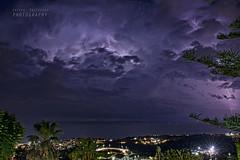 Thunderstorm (Andrea Rapisarda) Tags: longexposure sea summer sky night clouds nikon nuvole mare thunderstorm 24mm catania sera d800 lampi fulmini acicastello allrightsreserved saette tuoni tempestadifulmini 16settembre2014