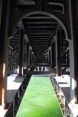 Sous le pont (StephanExposE) Tags: bridge sunset panorama paris france water seine canon river eau riviere pont 1855mm iledefrance coucherdesoleil fleuve pontalexandreiii 600d stephanexpose