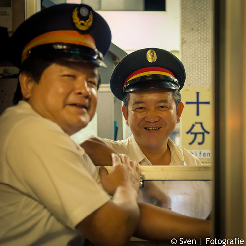 The train driver and his colleague