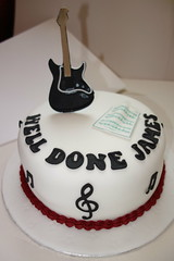Guitar cake (Victorious_Sponge) Tags: birthday music cake rock electric guitar well passing done exam