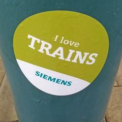 Gricer Central (RoystonVasey) Tags: love apple station square sticker 5 siemens railway trains crop round iphone