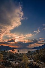 Natural view (Vagelis Pikoulas) Tags: sun sunset sunburst landscape canon 6d tokina 1628mm view sky clouds cloud cloudy porto germeno greece europe 2017 february winter sea seascape scenery scene