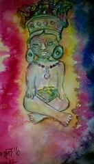 Maya. (IDIAY) Tags: acuarelaesculturamaya arcilla
