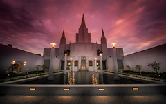 The princess in another castle.. (KurteeQue) Tags: sunset clouds color church oakland reflection water outdoor buidling symmetry
