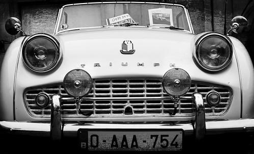 Une Triumph TR3 rencontrée à Spa, Belgium