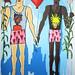 لوحات مثلي الجنس مثلي الجنس معرض الفن رجلين تقبيل الرقص الحب اشتهاء المماثل الفنانين رسام عليل الرسامين الأعمال الفنية المثيرة