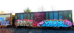 PK - keso - lae - repo9 - dayz (timetomakethepasta) Tags: pk keso ics repo9 dayz freight train graffiti art boxcar fglk lae benching selkirk new york photography