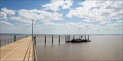 wyndham-1285-ps-w (pw-pix) Tags: boat jetty australia wa outback remote lowtide westernaustralia wyndham moored cambridgegulf newjetty prawntrawler opened2012 anthonslandingjetty mostnortherlytowninwa sellingprawns