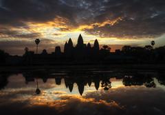 cambodian orange clouds