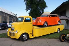 """1942 Chevrolet Cabover & 1937 Ford (DVS1mn) Tags: cars chevrolet minnesota fairgrounds gm state stpaul bowtie chevy carshow generalmotors backtothe50s backtothefifties msra""""backtothe50′s""""41stannualcarshow"""