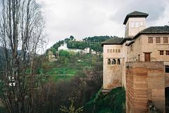 generalife from nasrid palace (Max Nathan) Tags: film architecture spring spain andalucia espana alhambra granada ricoh islamicarchitecture ricohgr1s nasridpalace kodakcolorplus