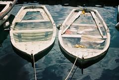 Submerged (katrinka sasha) Tags: film water boats balkans montenegro perast portra800