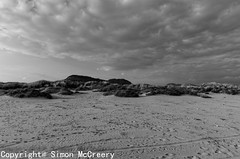 Sand and Sky (Mac McCreery) Tags: sky blackandwhite beach wales sand pentax tamron1750