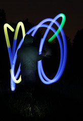 Squiggle (G.W. Photography) Tags: nottingham longexposure night glow iso400 f45 poi lighttrails 2014 glowpoi sunkenchurch canon60d tamron2470mm