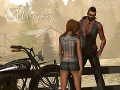 *pm* 'Merica (the_innocence) Tags: moon america paper freedom fourthofjuly denim biker pm papermoon denimvest merica