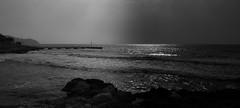 Coast of Cala Millor, Spain (MortenTellefsen) Tags: sea blackandwhite bw sun coast spain rocks waves wave spanish mallorca cala spania brygge millor malorka mallorka