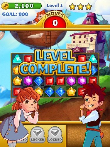 Jewel Mania Level Completed: screenshots, UI