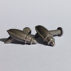 Ray gun cuff links in Steel