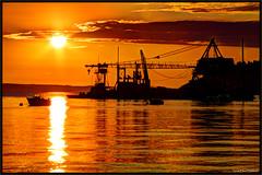 Mutiny Bay Trawler Sunset (ScottElliottSmithson) Tags: sunset seascape color beach water canon landscape eos washington dramatic 7d whidbeyisland pacificnorthwest pugetsound washingtonstate trawler freeland admiraltyinlet islandcounty mutinybay eos7d dtwpuck scottsmithson scottelliottsmithson