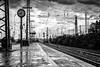 DSC_0146 (2) (LostSoul-Foto) Tags: blackandwhite bw rain streetphotography thunderstorm summerrain waitingforthetrain