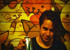 (∆luci) Tags: madrid 35mm graffiti cerveza gatos marcos chueca nikonn2000 eurotour2014