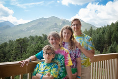 Crafty (Be Still) Tags: family mountains cabin colorado july tiedye estespark 2014 ymcaoftherockies