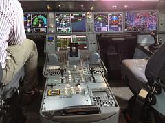 Airbus A380 Glass Cockpit Mockup (Explored) (mangopulp2008) Tags: show glass air july cockpit mockup airbus a380 industrie farnborough 2014