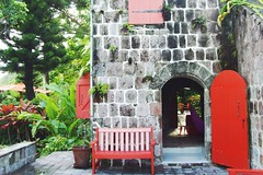 """Golden Rock Inn"" sur l'le de Nevis l'un des plus majestueux jardin des Caraibes! / ""Golden Rock Inn"" on the island of Nevis: the most majestic garden of the Caribbean! (I Love St.Kitts & Nevis) Tags: new york light sea sky plants mer plant sexy water rock stone garden landscape island monkey volcano golden inn flora eau artist nursery marden jardin ile boulder structure pebble architect arbres helen jungle lumiere soul plantation vegetation species material caribbean eden raymond helene pierres"
