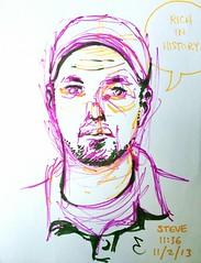 portrait by Eric Gordon (steve loya) Tags: art portraits drawing sharpeemarkers vinylvagabonds dccreepers