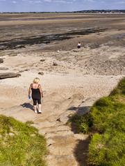 P1070058 (Paul Thickitt) Tags: sea sky beach water clouds island rocks wirral westkirby merseyside hilbre hilbreisland