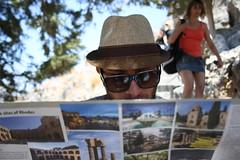 beautiful tourist man (Maria Emma.) Tags: sea summer vacation sun hat sunglasses map tourist greece rhodes inlove lindos sites summers ρόδοσ τουρίστασ λινδοσ sitesofrhodes