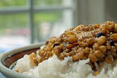 Mung Beans (Reg|Photography4Lyfe) Tags: food macro photography vegan beans rice indian bean foodporn vegetarian filipino zuiko 2014 foodphotography mung mungbean moong 1442mm olympusdslre410 moongbean