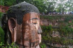 Giant Buddha, Leshan (Niall Corbet) Tags: china statue sandstone buddha buddhist buddhism carving unescoworldheritagesite leshan sichuan giantbuddha