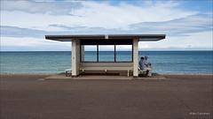 just the two of us..... (bevscwelsh) Tags: beach promenade llandudno northwales olympus1250 olympusem5