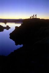 Myvatn at night (asketoner) Tags: winter sunset people mountain lake snow landscape evening waterfall iceland rocks shadows north myvatn islande akureyri godafoss geothermical geothermics isklandi