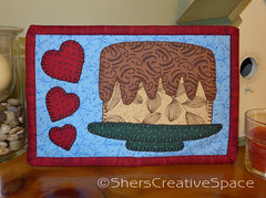 chocolate_cake_mug_rug (Sher's Creative Space) Tags: sewing applique mugrug miniquiltquilting appliquetemplates cakequilt dessertquilt cakemugrug cakeminiquilt