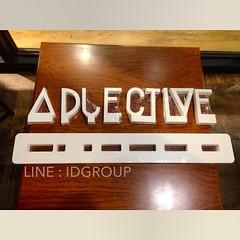 """ป้ายชื่อร้าน """"ADJECTIVE"""" สั่งทำแบบถอดเก็บได้ไม่ต้องกลัวหัก เก็บง่ายน้ำหนักเบา  ใครสนใจกระเป๋าผ้าน่ารักๆ งานเย็บมือ แถมแม่ค้าใจดี สอบถาม @allisadjective ได้เลยจ้า  ติดต่อสอบถาม LINE : IDGROUP FB : ID.13SHOP IG : IDGROUP_IG  #Iamidgroup #idgroup #id13shop #"""