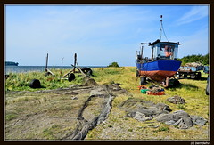 Insel Rgen / Am Gobbiner Haken (berndwhv) Tags: deutschland rgen ostsee landschaften mecklenburgvorpommern fischerboote inselrgen fischerei landkreisvorpommernrgen gobbinerhaken