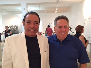 Artist Humberto Castro and Harvey Oxenberg at the Oxenberg Art Gallery opening in Wynwood