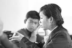 Soya explaining (ines_stu) Tags: travel people blackwhite cambodia kambodscha teaching aphotoaday happysunshineorganization