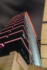 Point of view (Vetto) Tags: longexposure light architecture night hotel nikon dubai uae luci notte architettura intercontinentalhotel esposizionelunga festivalcity