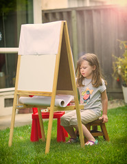 Mini Monet (melfoody) Tags: art artist girl kid garden concentration canon 5d3 explore explored
