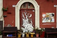 Catania (Shahrazad_84) Tags: door streetart building sicily catania sicilia